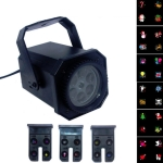 8W LED Stage Lighting Christmas Snowflake Pattern Projection Lamp Effect Laser Light, Plug Specifications:US Plug(6 Holes)
