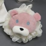 10 PCS Bath Super Soft Rubbing Artifact Bath Ball Rubbing Back Toiletries Foaming Net, Style:Little Bear(Pink)