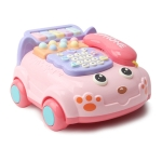 Simulation Music Phone Toy Early Childhood Education Multi-functional Learning Machine(Pink)