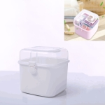2 PCS Multifunctional Transparent Plastic Cosmetic Storage Box Household Supplies Storage Pill Box(White)