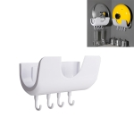 2 PCS Household Wall-mounted Plastic Punch-free Pot Lid Rack Kitchen Supplies Rack(White)