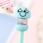 20 PCS Creative Expression Spring Doll Gel Pen Cartoon Bounce Doll Water Pen, Specification:Nib 0.38mm(Sinister Smile)