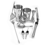 11 in 1 Cocktail Mixing Set Wine Filter Filter, Color:Silver