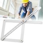 Multi-function Diagonal Ruler Protractor Corner Angle Finder, Lengthen Version
