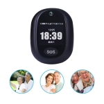 REACHFAR RF-V45-B Mini GPS Smart Tracker Pendant, Support SOS / Camera / Health Management / 4G LTE(Black)