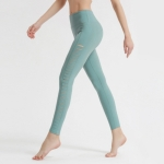Side Cutout Fitness Running Track Pants (Color:Cyan Size:M)