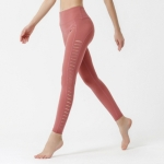 Side Cutout Fitness Running Track Pants (Color:Red Size:S)