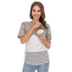 Up And Down Cross Color T-shirt (Color:Gray Size:S)