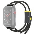 Baseus Lets Go Double Hollow Lockble Rope Strap Watch Band for Apple Watch Series 5 & 4 44mm / 3 42mm (Grey Yellow)