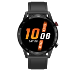 DT95 1.3 inch Round Color Screen Smart Watch, IP68 Waterproof, Support Heart Rate Blood Pressure Monitoring / Sedentary Reminder / Sleep Monitoring, Silicone Strap (Black)