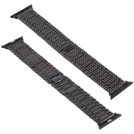 For Apple Watch Series 5 & 4 44mm / 3 & 2 & 1 42mm Nine Beads Stainless Steel Wrist Strap Watchband (Black)
