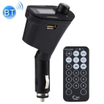 Wireless Bluetooth Car MP3 Player FM Transmitter with Remote Control & LCD Display, Support USB and SD Card & Audio Cable