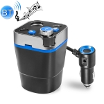 Cup Holder Car Charger Car Bluetooth MP3 Support Bluetooth / TF Card / U Disk / FM (Blue)