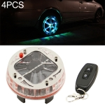 4 PCS Solar LED Car Tire Decoration Flashing Lights Colorful Wheels Hub Atmosphere Lights Infrared Remote Control