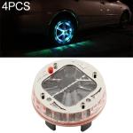4 PCS Solar LED Car Tire Decoration Flashing Lights Colorful Wheels Hub Atmosphere Lights Wireless Remote Control