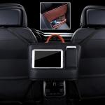 Car Front Seat Hanging Bag Mobile Phone Storage Bag (Black)