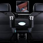 Car Front Seat Hanging Bag Paper Towel / Water Cup Storage Bag (Black)