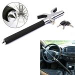 Car Adjustable Telescopic U Shape Steering Wheel Lock Anti-theft Cipher Lock with Safety Hammer