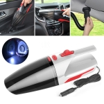 Car / Household Wired Portable 120W Handheld Powerful Vacuum Cleaner with LED Light Cable Length: 5m (White)