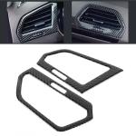 Car Carbon Fiber Central Control Side Air Outlet Frame Decorative Sticker for Volkswagen Tiguan L