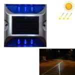 Solar Square Road Stud Light Car Guidance Light Road Deceleration Light, Flashing Bright Version (Blue)