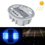 Solar Round Embedded Road Stud Light Car Guidance Light Road Deceleration Light, Constantly Bright Version (Blue)