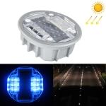 Solar Round Embedded Road Stud Light Car Guidance Light Road Deceleration Light, Flashing Bright Version (Blue)