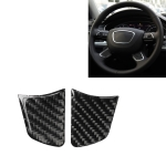 Car Carbon Fiber Steering Wheel Button Decorative Sticker for Audi A6 S6 C7 A7 S7 4G8 2012-2018, Left and Right Drive Universal