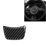 Car Carbon Fiber Steering Wheel Decorative Sticker for Audi A6 S6 C7 A7 S7 4G8 2012-2018, Left and Right Drive Universal