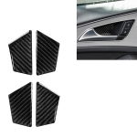 Car Carbon Fiber Inner Door Bowl Decorative Sticker for Audi A6 S6 C7 A7 S7 4G8 2012-2018, Left and Right Drive Universal