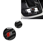 Car Carbon Fiber Multimedia Knob Decorative Sticker for Audi A6 S6 C7 A7 S7 4G8 2012-2018, Left and Right Drive Universal