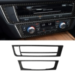 Car Carbon Fiber Air Conditioning CD Panel Decorative Sticker for Audi A6 S6 C7 A7 S7 4G8 2012-2018, Left Drive