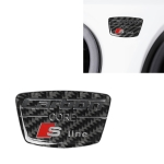 Car Carbon Fiber S Line Pattern Doorpost Decorative Sticker for Audi TT, Left and Right Drive Universal