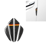 Car Carbon Fiber German Flag Pattern Anti-collision Sticker for Audi TT, Left and Right Drive Universal