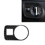 Car Carbon Fiber Headlight Switch Decorative Sticker for Audi TT 8n 8J MK123 TTRS 2008-2014, Right Drive