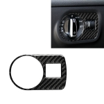 Car Carbon Fiber Headlight Switch Decorative Sticker for Audi TT 8n 8J MK123 TTRS 2008-2014, Left Drive