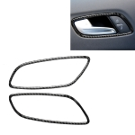 Car Carbon Fiber Door Handle Frame Decorative Sticker for Audi TT 8n 8J MK123 TTRS 2008-2014, Left and Right Drive Universal
