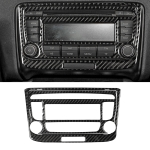 Car Carbon Fiber Air Conditioning CD Panel Decorative Sticker for Audi TT 8n 8J MK123 TTRS 2008-2014, Left and Right Drive Universal, B Style