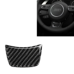 Car Carbon Fiber Steering Wheel Decorative Sticker for Audi A3 / S3 2014-2019, Left and Right Drive Universal