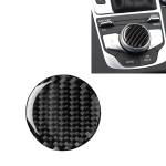 Car Carbon Fiber Central Control Knob Decorative Sticker for Audi A3 / A4L 2014-2019, Left and Right Drive Universal