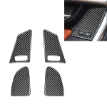 4 PCS Car Carbon Fiber Window Lifting Button Decorative Stickers for Volvo V60 / XC60 2010-2017 / S60 2010-2018, Left and Right Drive Universal