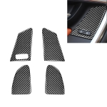 4 PCS Car Carbon Fiber Window Lifting Button Decorative Stickers for Volvo V60 / XC60 2010-2017 / S60 2010-2018, Left Drive