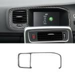 Car Carbon Fiber Navigation Frame Decorative Stickers for Volvo V60 2010-2017 / S60 2010-2018, Right Drive