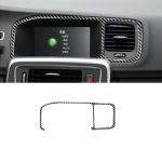 Car Carbon Fiber Navigation Frame Decorative Stickers for Volvo V60 2010-2017 / S60 2010-2018, Left Drive