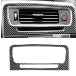 Car Carbon Fiber Central Control Air Outlet Decorative Stickers for Volvo V60 2010-2017 / S60 2010-2018, Left and Right Drive Universal
