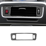 Car Carbon Fiber Central Control Below Air Outlet Decorative Stickers for Volvo V60 2010-2017 / S60 2010-2018, Right Drive