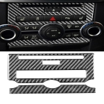 Car Carbon Fiber Central Control CD Panel Decorative Sticker for Land Rover Discovery 4 2010-2016, Left and Right Drive Universal