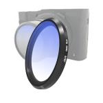 JSR Gradient Colored Lens Filter for Panasonic LUMIX LX10(Gradient Blue)