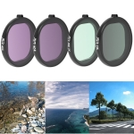 JSR Round Housing 4 in 1 UV+CPL+ND4+ND8 Lens Filter for GoPro HERO8 Black