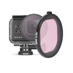 Sunnylife Round Housing Diving Color Lens Filter for GoPro HERO8 Black(Pink)